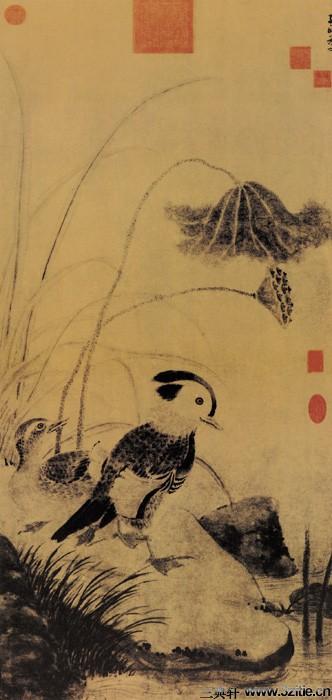 历代名家墨荷图欣赏0007作品欣赏