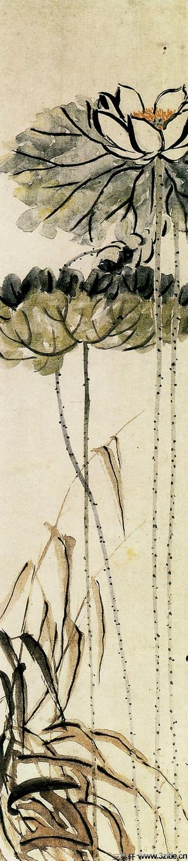 历代名家墨荷图欣赏0026作品欣赏