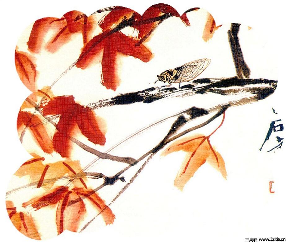 齐白石花鸟鱼虫国画0012作品欣赏