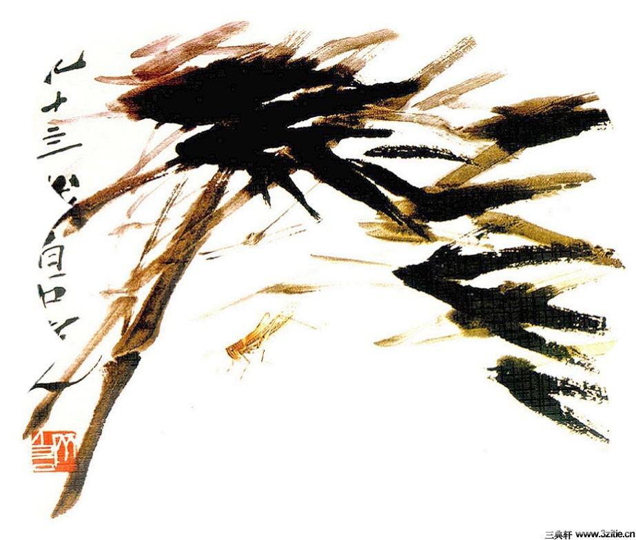 齐白石花鸟鱼虫国画0020作品欣赏