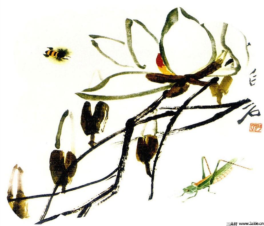 齐白石花鸟鱼虫国画0021作品欣赏