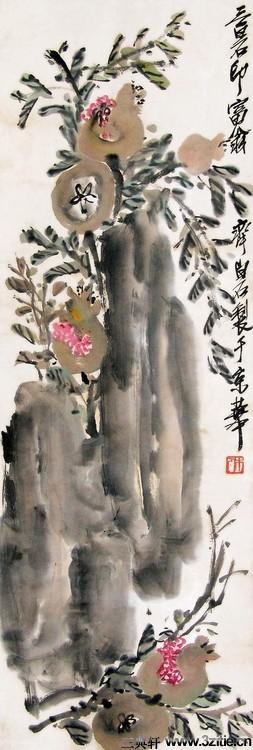 齐白石绘画作品欣赏(一)0036作品欣赏