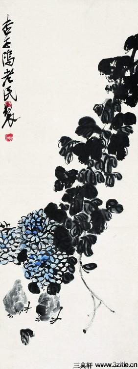 齐白石绘画作品欣赏(一)0053作品欣赏