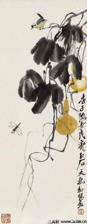 齐白石绘画作品欣赏(一)0063作品欣赏