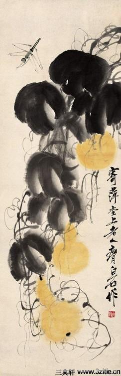 齐白石绘画作品欣赏(一)0072作品欣赏