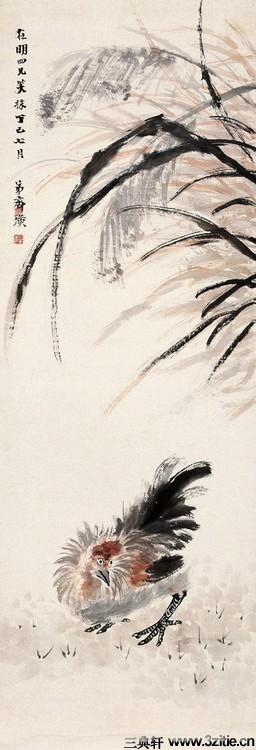 齐白石绘画作品欣赏(一)0073作品欣赏
