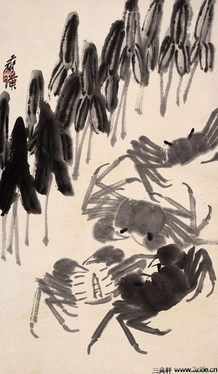 齐白石绘画作品欣赏(一)0078作品欣赏