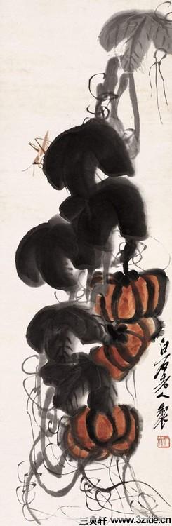 齐白石绘画作品欣赏(一)0083作品欣赏