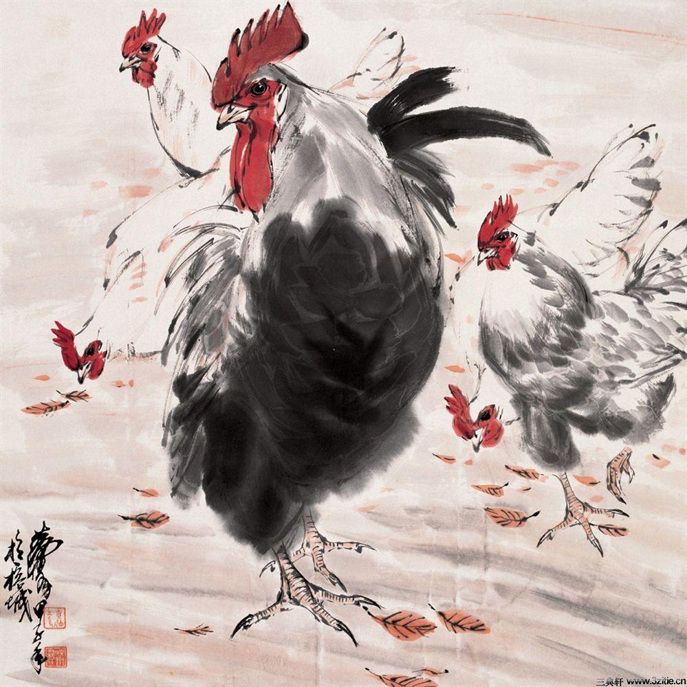 黄胄国画大师黄胄国画大作-《黄胄画鸡》0011国画大师黄胄国画大作-《黄胄画鸡》