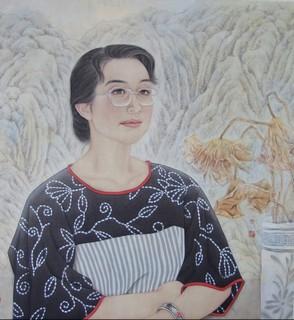 何丽国画现代人物工笔画欣赏0006作品欣赏