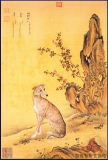 清郎世宁《十犬图》0009作品欣赏