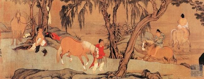 中国传世人物画:元代(一)0005作品欣赏