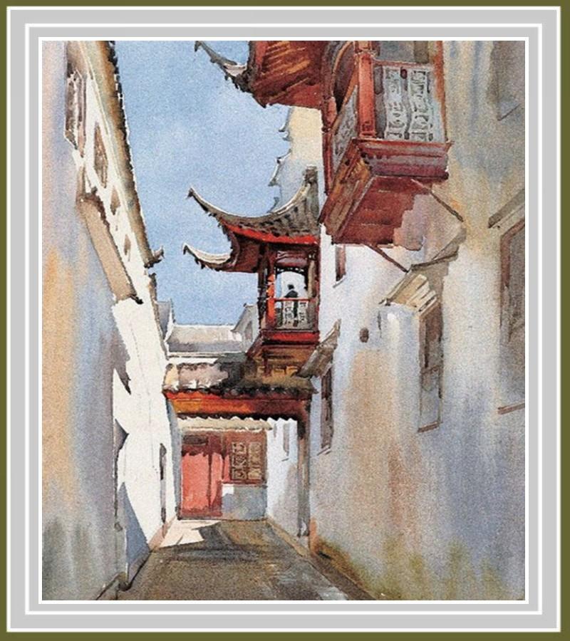 画家华宜玉建筑风景水彩画0003书法作品字帖欣赏