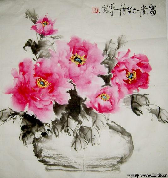 中国画牡丹作品欣赏_牡丹国画作品欣赏_沽北书画院