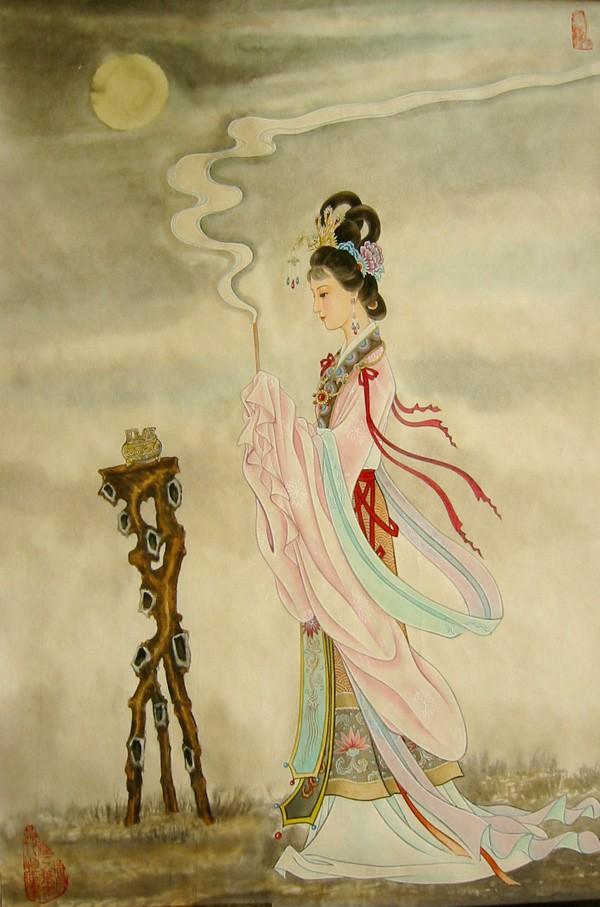 国画家吴良柱工笔仕女图欣赏一0011国画书