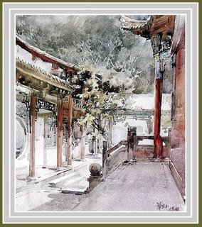 画家华宜玉建筑风景水彩画0002作品欣赏