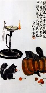 齐白石国画作品(上)0009作品欣赏